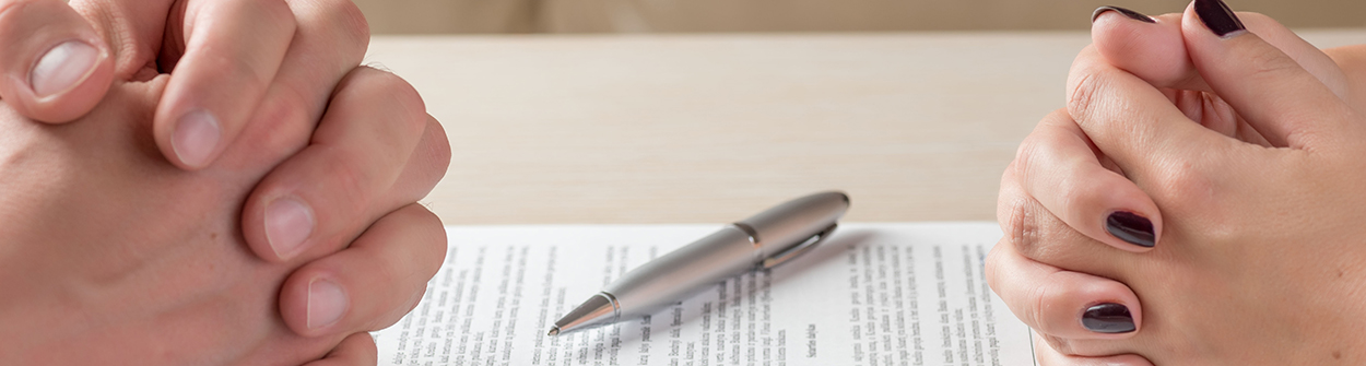 The Collaborative Divorce process begins with a signed participation agreement